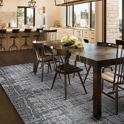 dark grey pattern area rug